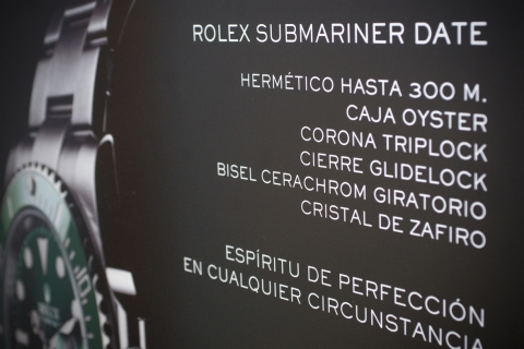 Presentation 50th anniversary of Rolex Submariner Date Watch at Olazabal Jeweller's [2010/11/23]